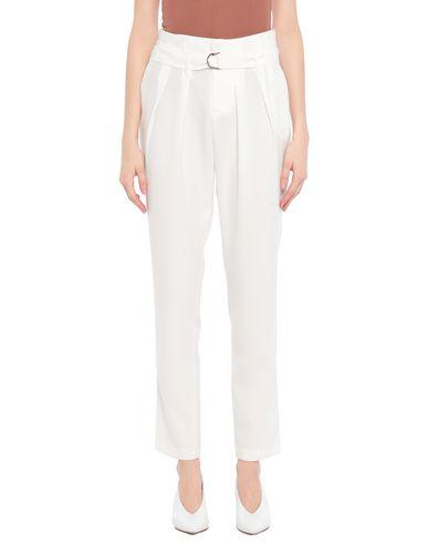 Gaëlle | Белый Женские белые повседневные брюки GAeLLE Paris креп | Clouty