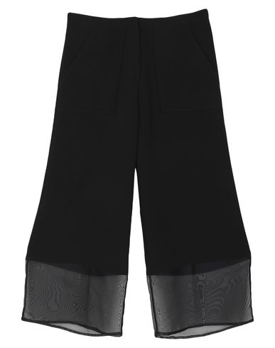 Gaëlle   Черный Женские черные повседневные брюки GAeLLE Paris органза   Clouty