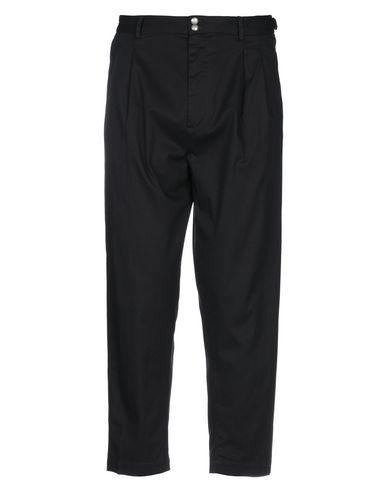 Officina 36 | Черный Мужские черные повседневные брюки OFFICINA 36 твил | Clouty