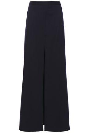Chalayan | Chalayan Woman Layered Wool-twill Wide-leg Pants Midnight Blue | Clouty