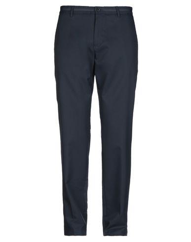 BOSS | Темно-синий; Черный Мужские темно-синие повседневные брюки BOSS HUGO BOSS твил | Clouty