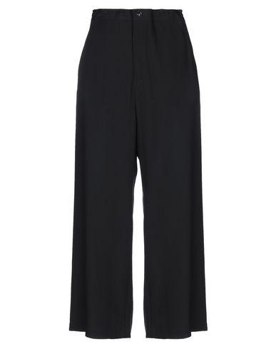Y's | Черный Женские черные повседневные брюки Y'S YOHJI YAMAMOTO плотная ткань | Clouty