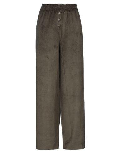 Empathie   Темно-зеленый; Черный Женские темно-зеленые повседневные брюки EMPATHIE химическое волокно   Clouty