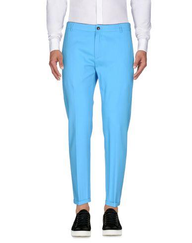 Department 5 | Бирюзовый Мужские бирюзовые повседневные брюки DEPARTMENT 5 фланель | Clouty