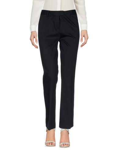 Boutique Moschino | Черный; Темно-синий; Красный; Бежевый; Белый; Желтый Женские черные повседневные брюки BOUTIQUE MOSCHINO Плотная ткань | Clouty