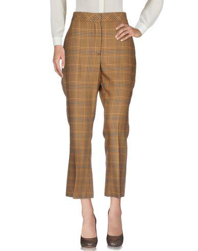 Jucca | Верблюжий; Хаки Женские верблюжьи повседневные брюки JUCCA плотная ткань | Clouty