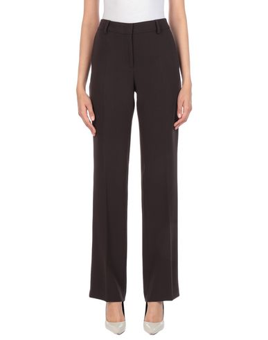 Alberto Biani   Темно-коричневый; Темно-синий; Черный Женские темно-коричневые повседневные брюки ALBERTO BIANI креп   Clouty