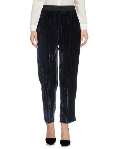 Jucca | Темно-синий; Черный; Ржаво-коричневый Женские темно-синие повседневные брюки JUCCA бархат | Clouty