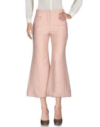 Marco De Vincenzo | Розовый; Черный Женские розовые повседневные брюки MARCO DE VINCENZO креп | Clouty
