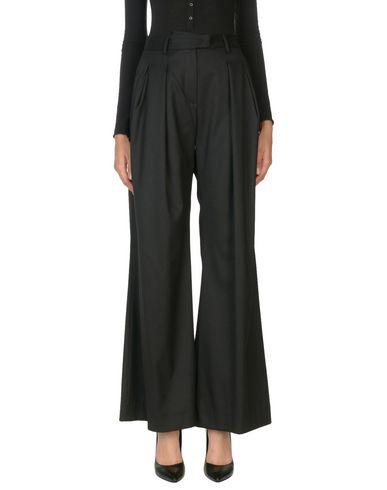Messagerie | Черный Женские черные повседневные брюки MESSAGERIE твил | Clouty