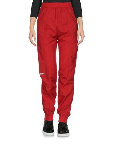 REEBOK | Красный Женские красные повседневные брюки REEBOK техническая ткань | Clouty