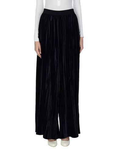 Jucca | Темно-синий Женские темно-синие повседневные брюки JUCCA бархат | Clouty