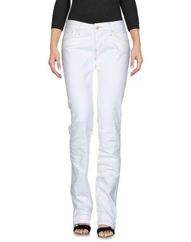 Shaft | Белый Женские белые джинсовые брюки SHAFT деним | Clouty