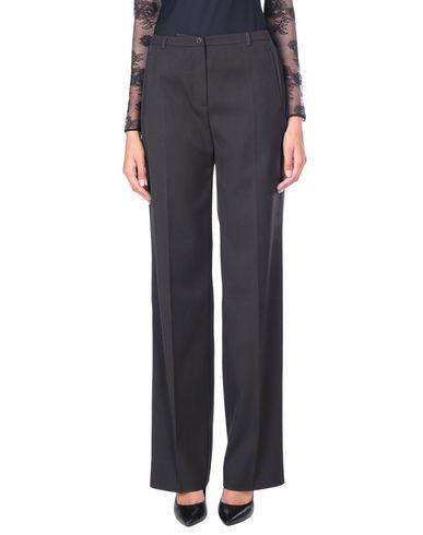 Linea Emme | Темно-коричневый Женские темно-коричневые повседневные брюки LINEAEMME плотная ткань | Clouty
