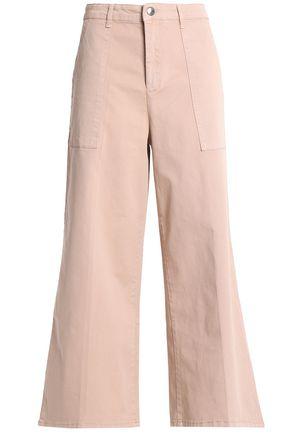 Vanessa Bruno Athé | Vanessa Bruno Athe' Woman Cropped Cotton-blend Twill Wide-leg Pants Blush | Clouty