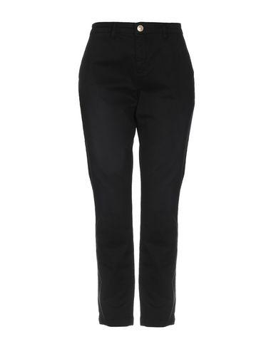 Silvian Heach | Черный; Зеленый-милитари Женские черные повседневные брюки SILVIAN HEACH габардин | Clouty