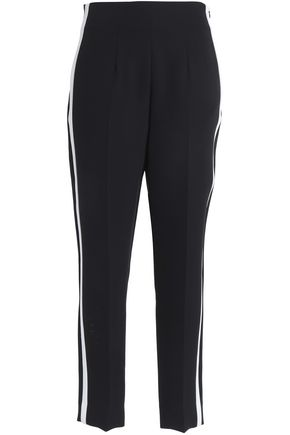 RAG & BONE | Rag & Bone Woman Elliot Striped Crepe Tapered Pants Black | Clouty