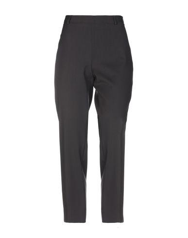 Alberto Biani | Темно-коричневый Женские темно-коричневые повседневные брюки ALBERTO BIANI шерстяной муслин | Clouty