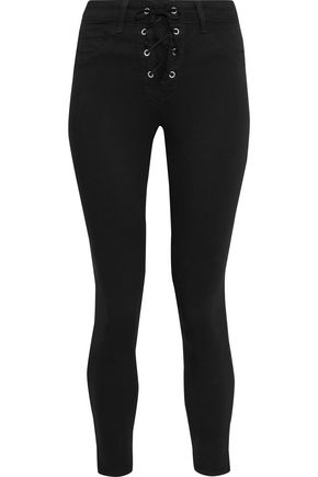 L'Agence | L'agence Woman Cherie Cropped Mid-rise Skinny Jeans Black | Clouty