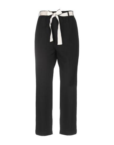 Alysi | Черный; Слоновая кость Женские черные повседневные брюки ALYSI плотная ткань | Clouty