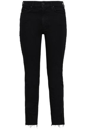 Mother | Mother Woman High-rise Skinny Jeans Black | Clouty