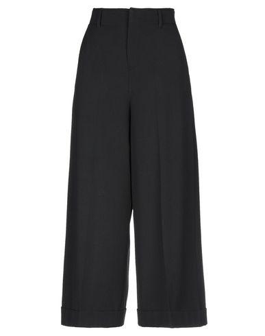 PT01 | Черный Женские черные повседневные брюки PT01 фланель | Clouty