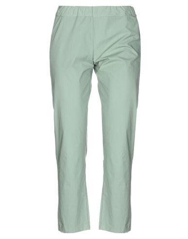 Labo.Art | Зеленый-милитари; Белый Женские повседневные брюки LABO.ART плотная ткань | Clouty