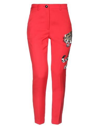 Philipp Plein | Красный; Розовый Женские красные повседневные брюки PHILIPP PLEIN креп | Clouty