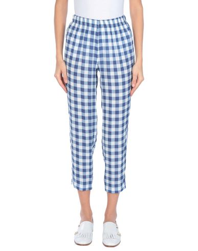 Carla G. | Синий; Пастельно-розовый Женские синие брюки капри CARLA G. креп | Clouty
