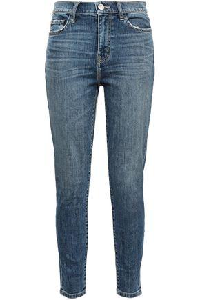 Current/Elliott | Current/elliott Woman The High Waist Stiletto Faded High-rise Skinny Jeans Mid Denim | Clouty
