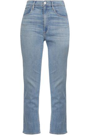 3x1   3x1 Woman Colette Cropped High-rise Slim-leg Jeans Light Denim   Clouty