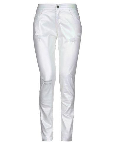 Giamba | Слоновая кость Женские повседневные брюки GIAMBA плотная ткань | Clouty