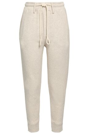 Vince | Vince. Woman Melange French Cotton-terry Track Pants Ecru | Clouty