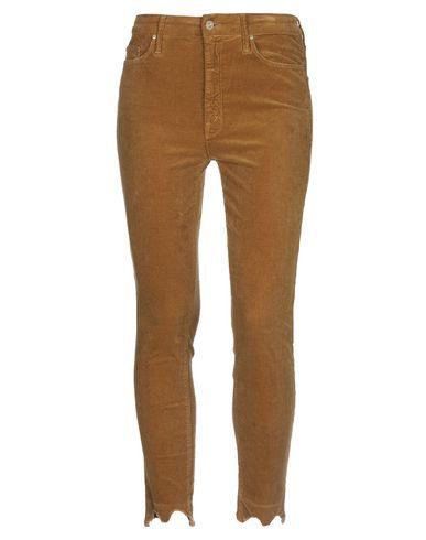 Mother | Коричневый; Пастельно-розовый; Свинцово-серый Женские коричневые повседневные брюки MOTHER бархат | Clouty