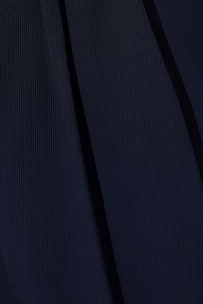 Roland Mouret | Roland Mouret Woman Henson Twill Straight-leg Pants Navy | Clouty