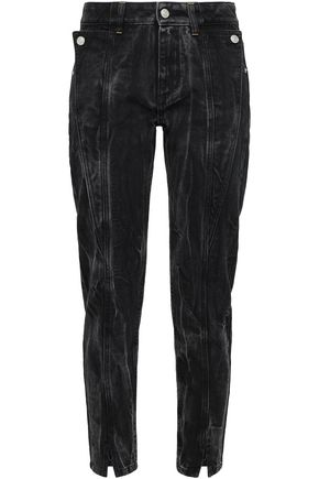 GIVENCHY | Givenchy Woman Button-detailed High-rise Slim-leg Jeans Black | Clouty