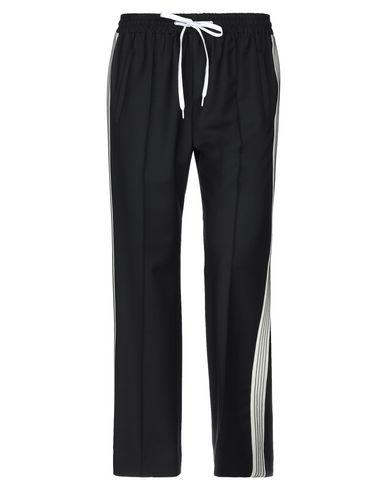MIU MIU | Черный; Ярко-синий Женские черные повседневные брюки MIU MIU плотная ткань | Clouty