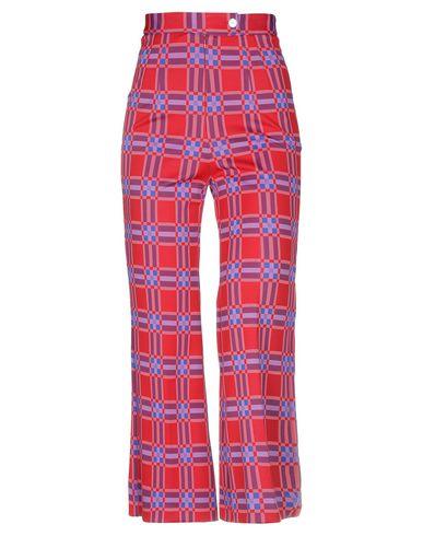 Attic And Barn | Красный Женские красные повседневные брюки ATTIC AND BARN плотная ткань | Clouty