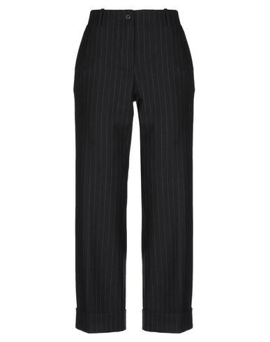 Alberto Biani | Черный Женские черные повседневные брюки ALBERTO BIANI шерстяной муслин | Clouty