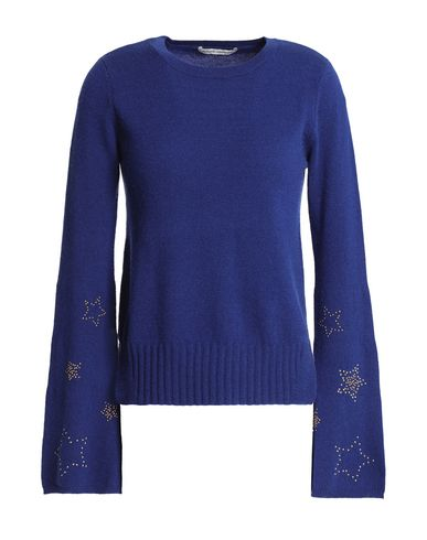Autumn Cashmere | Синий; Красно-коричневый Женский синий свитер AUTUMN CASHMERE вязаное изделие | Clouty