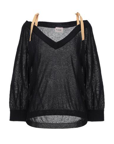Floor   Женский черный свитер FLOOR вязаное изделие   Clouty