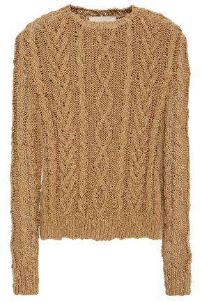 Vanessa Bruno   Vanessa Bruno Woman Cable-knit Cotton Sweater Army Green   Clouty