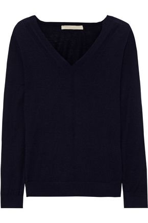 Vanessa Bruno | Vanessa Bruno Woman Wool, Silk And Cashmere-blend Sweater Midnight Blue | Clouty