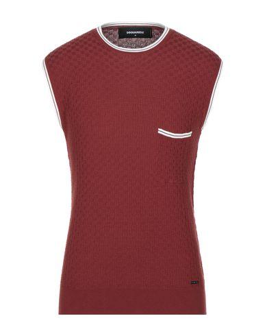DSQUARED2   Кирпично-красный; Оранжевый Мужской свитер DSQUARED2 вязаное изделие   Clouty