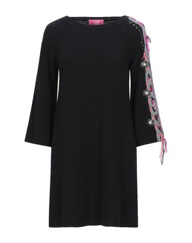 VDP | Черный Черное короткое платье VDP CLUB вязаное изделие | Clouty