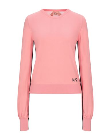 No. 21 | Лососево-розовый Женский свитер N°21 вязаное изделие | Clouty