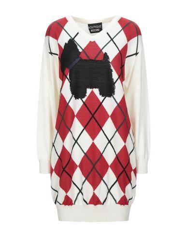 Boutique Moschino   Слоновая кость Короткое платье BOUTIQUE MOSCHINO вязаное изделие   Clouty