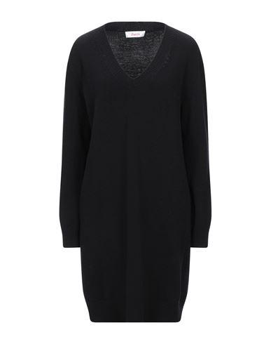Jucca   Черный; Ярко-синий Черное короткое платье JUCCA вязаное изделие   Clouty