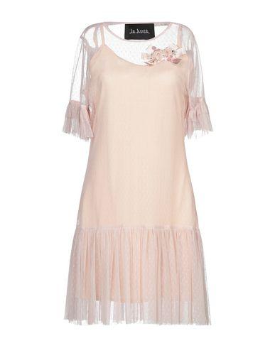 La Kore   Телесный; Черный Телесное короткое платье LA KORE кружево   Clouty