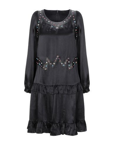 Frankie Morello | Черный Черное короткое платье FRANKIE MORELLO искусственная кожа | Clouty